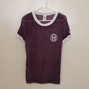 PINK Burgundy /Purple Burn Out top